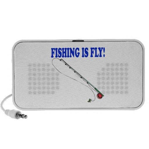 La pesca es mosca iPod altavoz