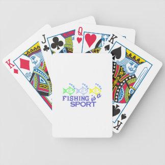 La pesca es un deporte baraja de cartas