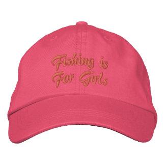 La pesca está para el casquillo de los chicas gorro bordado