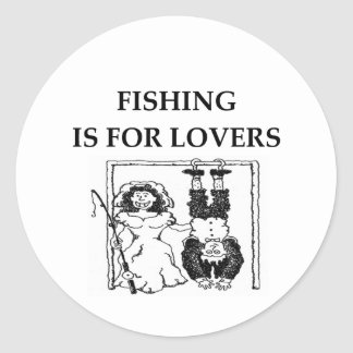 La pesca está para los amantes pegatina redonda