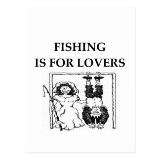 La pesca está para los amantes postal