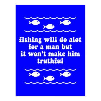 La pesca hará mucho para un hombre postales