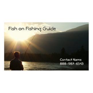 La pesca hasta el Sun va abajo Plantilla De Tarjeta De Negocio