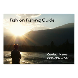 La pesca hasta el Sun va abajo Tarjeta De Visita