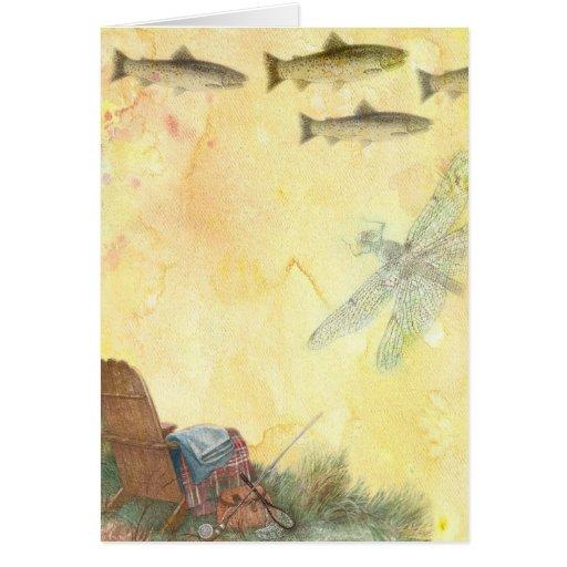 la pesca más grande de la papá-trucha - tarjeta de