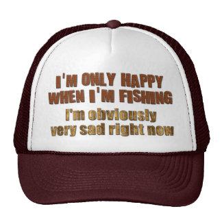 La pesca me hace feliz gorras de camionero