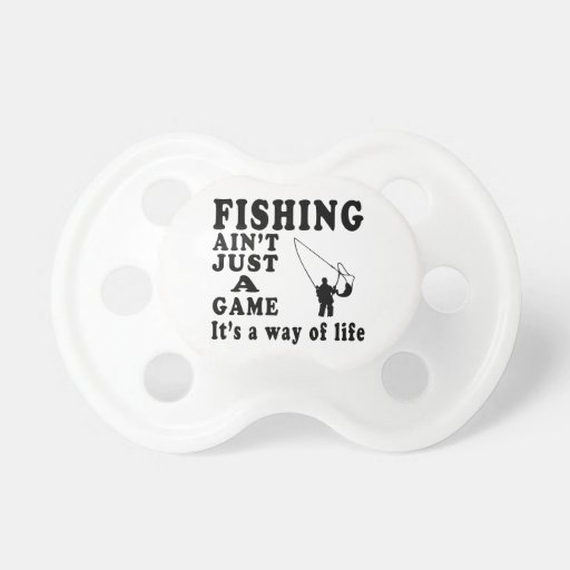 La pesca no es apenas un juego que es una manera d chupetes para bebés