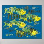 la pesca redacta las ilustraciones poster