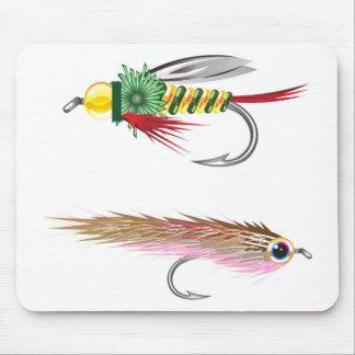 La pesca vuela los señuelos insecto y piscardos alfombrillas de ratón