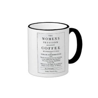 La petición de las mujeres contra la taza de café