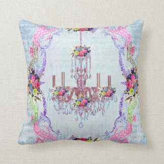 La Petite Chandelier by Bella Bella Studios Throw Pillow