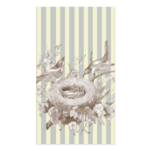 La Petite Famille on blue and cream Swing tag Business Card