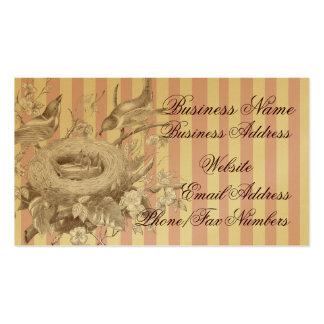 La Petite Famille on pink and cream and gold Double-Sided Standard Business Cards (Pack Of 100)