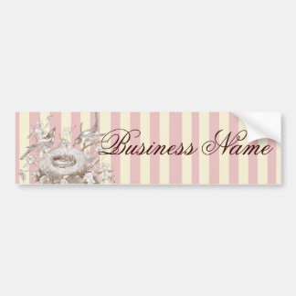 La Petite Famille on pink and cream background Bumper Sticker