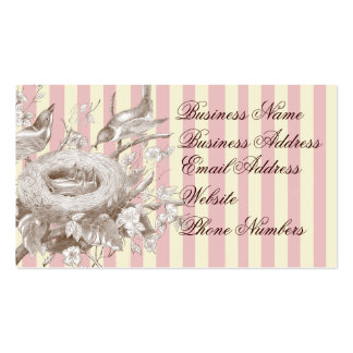 La Petite Famille on pink and cream background Double-Sided Standard Business Cards (Pack Of 100)