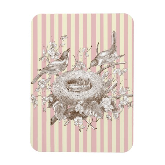 La Petite Famille on pink and cream background Magnet