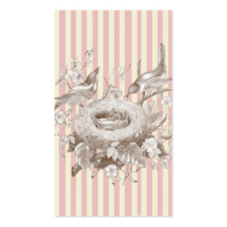 La Petite Famille on pink and cream Swing tag Double-Sided Standard Business Cards (Pack Of 100)