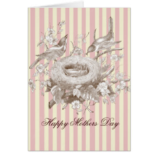 La Petite Famille, pink and cream, Mothers Day Card