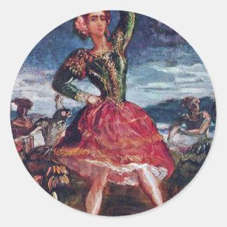 La Petra Camara By Chassériau Théodore Round Stickers