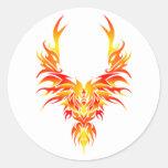 La Phoenix ardiente Pegatinas Redondas