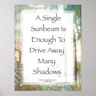 La Piazza de Sunbeam Prayer by St. Francis Poster
