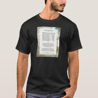La Piazza Simple Prayer For Peace by St. Francis T-Shirt