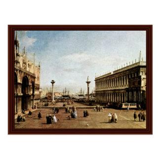 La Piazzetta By Canaletto Post Card