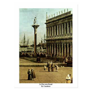 La Piazzetta Detail By Canaletto Post Card