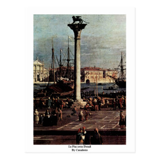 La Piazzetta Detail By Canaletto Postcards
