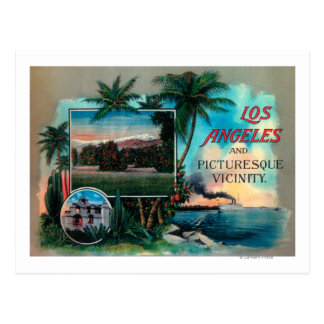 LA & Picturesque Vicinity Postcard