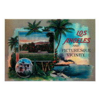 LA & Picturesque Vicinity Poster