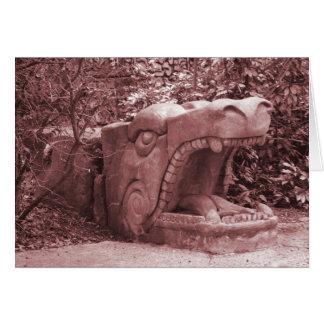 la piedra abierta de la boca de la estatua del dra tarjeta pequeña