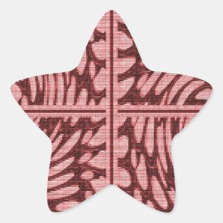La piedra cristalina gotea decoraciones del giro 5 pegatina en forma de estrella