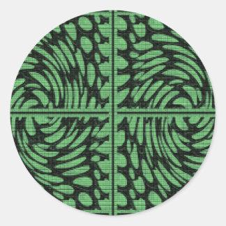 La piedra cristalina gotea decoraciones del giro 5 pegatina redonda