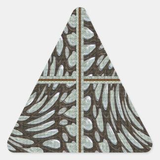 La piedra cristalina gotea decoraciones del giro 5 pegatina triangular