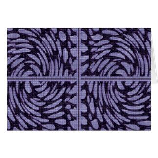 La piedra cristalina gotea decoraciones del giro 5 tarjeta de felicitación