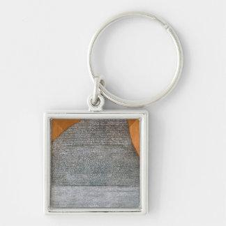 La piedra de Rosetta, de St. Julien del fuerte, Llavero Cuadrado Plateado