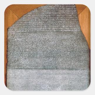 La piedra de Rosetta, de St. Julien del fuerte, Pegatina Cuadrada