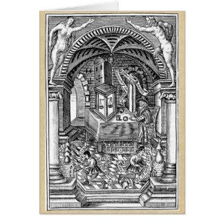 La piedra del filósofo tarjeta de felicitación