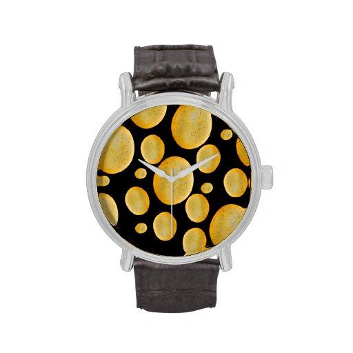 La piedra forma el modelo vibrante relojes de pulsera