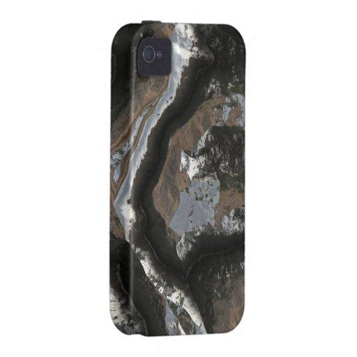 La piedra futurista modela la caja de 2 casamatas vibe iPhone 4 funda
