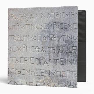 La piedra helenística del epígrafe, encontró en Ep