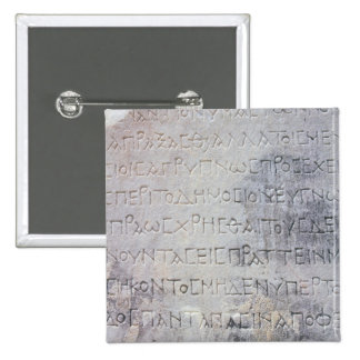 La piedra helenística del epígrafe, encontró en Ep Pin Cuadrado