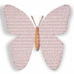 La piedra rosada cree la mariposa escultura fotografica