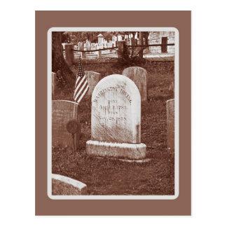 La piedra sepulcral de Washington Irving Postales