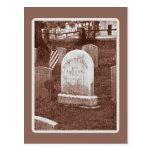 La piedra sepulcral de Washington Irving Tarjeta Postal