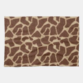 La piel de la jirafa mancha 2 toallas de cocina