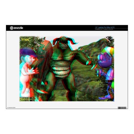 la piel Hollywood del duende 3D viaja EN 3D Portátil 33cm Skins