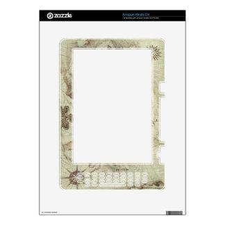 La piel vieja de Mapamundi para enciende DX Calcomanías Para El Kindle DX