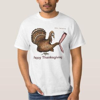 La pierna de Turquía - acción de gracias feliz Playera